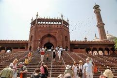 Jama Masjid von Delhi, Indien Stockfotografie