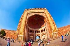 Jama Masjid w Fatehpur Sikri jest meczetem w Agra, uzupełniającym Obraz Royalty Free