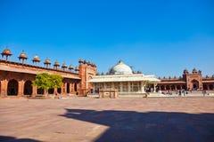 Jama Masjid w Fatehpur Sikri jest meczetem w Agra, uzupełniającym Zdjęcia Stock