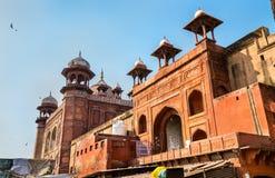 Jama Masjid, wielki meczet w Agra, Uttar - Pradesh, India Obraz Stock