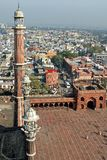 Jama Masjid y Delhi vieja imágenes de archivo libres de regalías
