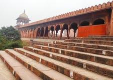 Jama-Moschee in Delhi, Indien lizenzfreies stockbild