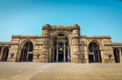 Jama Mosque eller Juma Masjid i Ahmedabad, Gujarat, Indien Arkivfoton