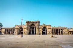 Jama Mosque eller Juma Masjid i Ahmedabad, Gujarat, Indien Arkivfoto