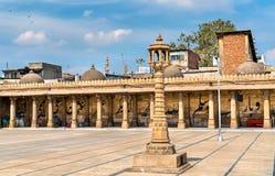 Jama Mosque, the most splendid mosque of Ahmedabad - Gujarat, India. Jama Mosque, the most splendid mosque of Ahmedabad - Gujarat State of India Royalty Free Stock Photos