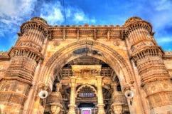 Jama Mosque, the most splendid mosque of Ahmedabad - Gujarat, India. Jama Mosque, the most splendid mosque of Ahmedabad - Gujarat State of India Stock Photo