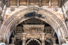 Jama Mosque, the most splendid mosque of Ahmedabad - Gujarat, India. Jama Mosque, the most splendid mosque of Ahmedabad - Gujarat State of India Royalty Free Stock Photos