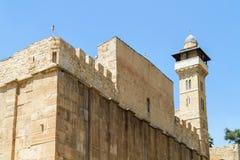 Jama patriarchowie, jama Machpelah w Hebron, Izrael fotografia stock