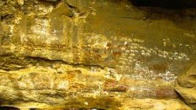 Jama petroglify w Adi Alauti jarze Qohaito Erytrea i obrazy zdjęcie royalty free