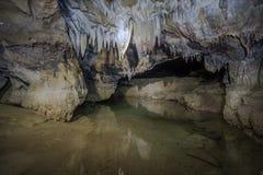 Jama stalagmity Obraz Royalty Free