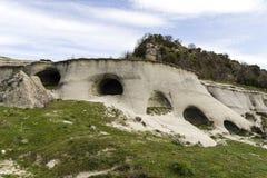 Jama zawala się w Calabria z krajobrazowy rupestrian Obrazy Stock
