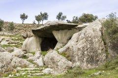 Jama zawala się w Calabria z krajobrazowy rupestrian Obrazy Royalty Free