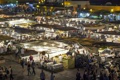 Jamaa el Fna,正方形在马拉喀什(摩洛哥) 库存图片