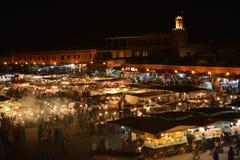 Jamaa el fna Marrakech, Marocko Arkivfoton