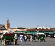 Jamaa el Fna Marrakesh Royalty Free Stock Photography