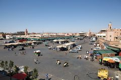 Jamaa el Fna Marrakesh Royalty Free Stock Photo