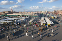 Djemaa el Fna in Marrakesh, Morocco Royalty Free Stock Photos