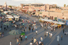 Djemaa el Fna in Marrakesh, Morocco Stock Images