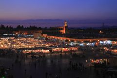 Jamaa el Fna. In medina quarter of Marrakesh royalty free stock images