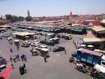 Jamaa el fna. People's square Marrakech Morocco Royalty Free Stock Photos
