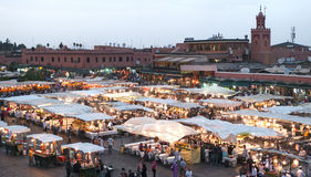 Jamaa el Fna, Square in Marrakesh (Morocco) Royalty Free Stock Photo
