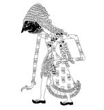 Jamadagni. A character of traditional puppet show, wayang kulit from java indonesia royalty free illustration
