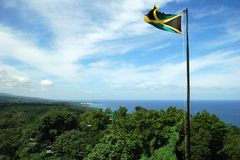 Jamaica. The view of Jamaican landscape from the top of Mystic Mountain Stock Photos