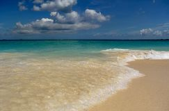 Bahamas beach waves calm royalty free stock photo