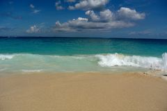 Bahama beach waves stock photos