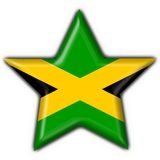 Jamaica button flag star shape Royalty Free Stock Photo