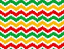 Jamaica chevron seamless pattern Stock Image