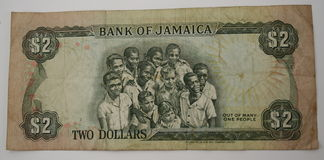 Jamaica Currency. Back side of Jamaica Currency royalty free stock photography