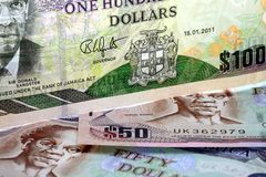 Jamaica currency - Banking and economic stability concept Stock Image