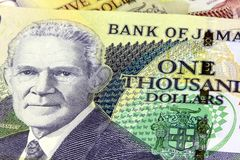 Jamaica currency - Banking and economic stability concept Stock Photos