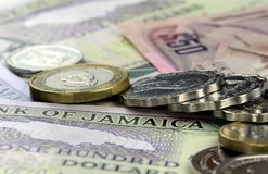 Jamaica currency - Banking and economic stability concept Royalty Free Stock Image