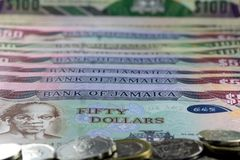 Jamaica currency - Banking and economic stability concept Royalty Free Stock Photography
