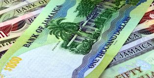 Jamaica currency - Banking and economic stability concept Royalty Free Stock Photos