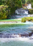 Jamaica. Dunn s River waterfalls.water landscape in a sunny day Royalty Free Stock Image