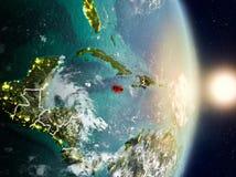 Jamaica durante o nascer do sol Imagens de Stock