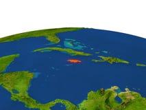 Jamaica en rojo de la órbita ilustración del vector
