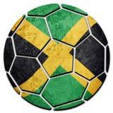 Jamaica för medborgare för fotbollboll flagga Jamaica fotbollboll Royaltyfri Foto
