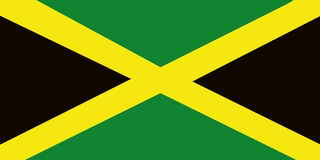 Jamaica flag Stock Photography