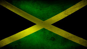 Jamaica flag. Animation of Jamaica flag moving royalty free illustration