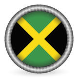 Jamaica flag button Royalty Free Stock Images