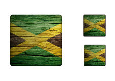 Jamaica Flag Buttons Stock Photo