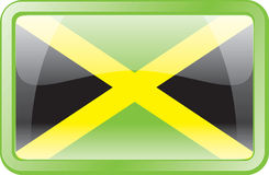 Jamaica Flag Icon Stock Image