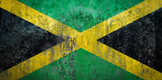 Jamaica Flag painted on a Wall. Ddistressed Painting of a Flag on an old Wall Royalty Free Stock Photos