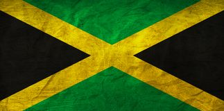 Jamaica Flag on Paper. Flag on an old Paper Texture Royalty Free Stock Photos