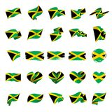 Jamaica flag, vector illustration Royalty Free Stock Photos