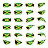 Jamaica flag, vector illustration Royalty Free Stock Photography